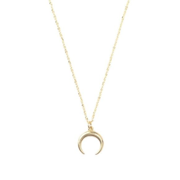 Half Moon necklace 925 gold-plated