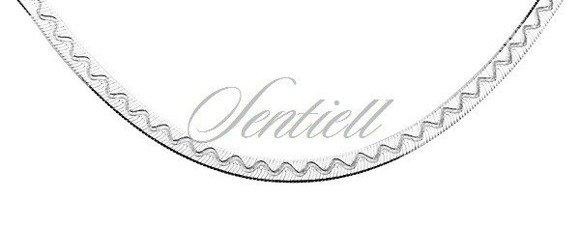 Łańcuszek ozdobny srebrny pr. 925 taśma z wzorem Ø 040 waga od 6,05g