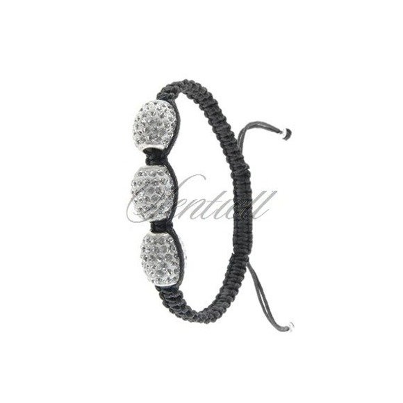 Rope bracelet (925) white oval