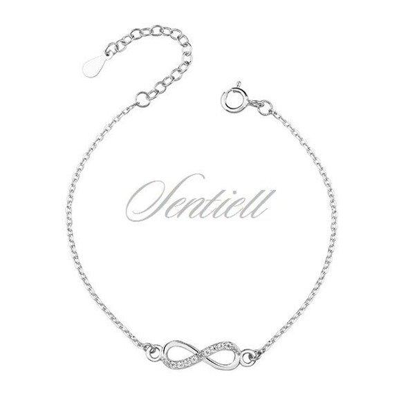 Silver (925) bracelet Infinity with zirconia