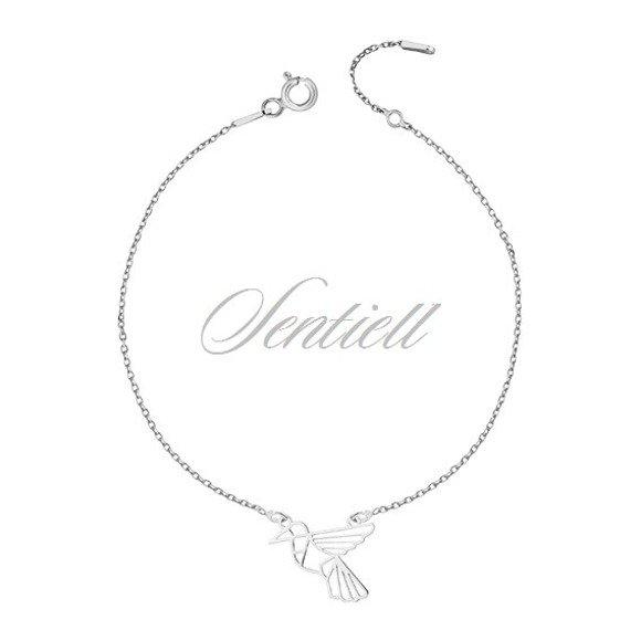 Silver (925) bracelet - Origami humming-bird