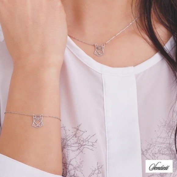 Silver (925) bracelet - Origami owl
