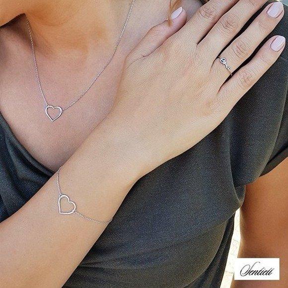 Silver (925) bracelet heart