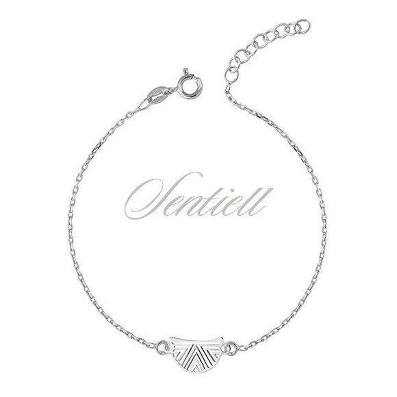 Silver (925) bracelet with open-work pendant