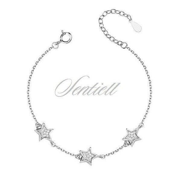 Silver (925) bracelet with stars