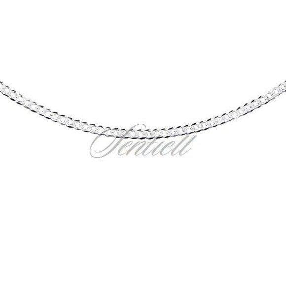 Silver (925) diamond-cut chain - curb extra flat Ø 060