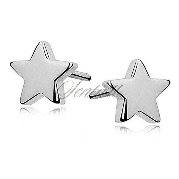 Silver (925) earrings stars
