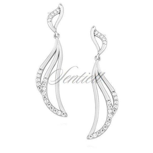Silver (925) earrings with zirconia