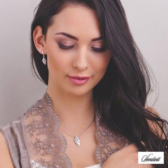 Silver (925) elegant pendant - leaf