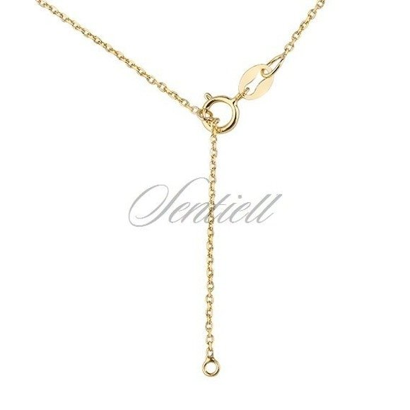 Silver (925) necklace with open-work clover pendant - gold-plated