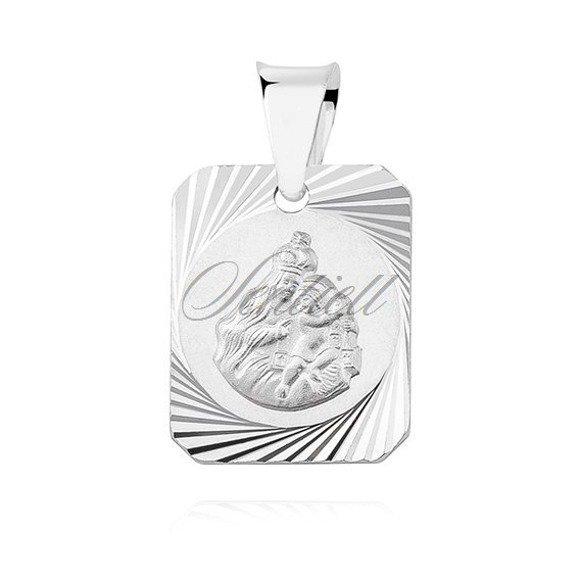 Silver (925) pendant - Jesus Christ / Scapular Mary