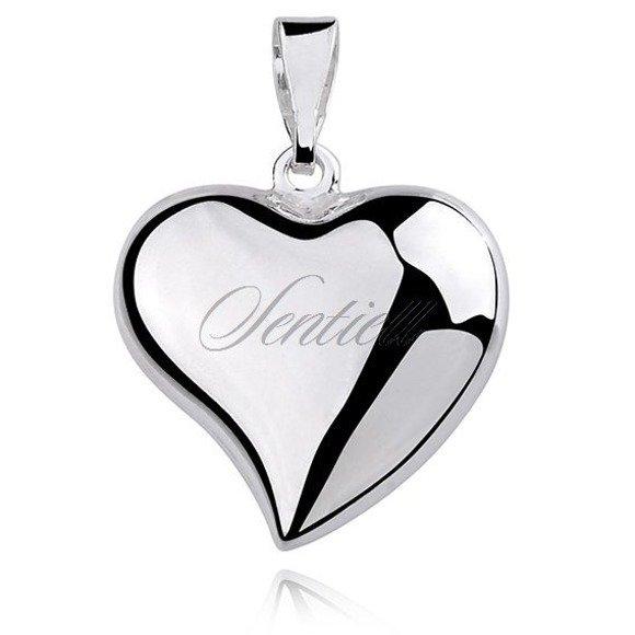 Silver (925) pendant - heart