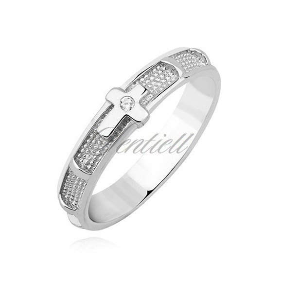 Silver (925) ring - rosary with zirconia