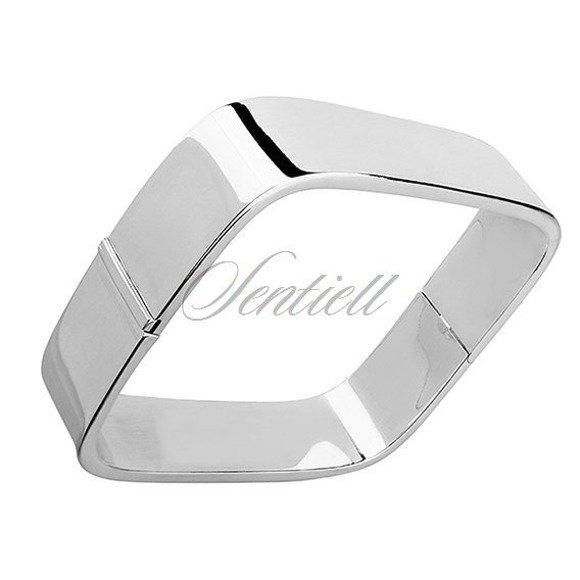 Bransoletka srebrna pr.925 kwadratowa (bangiel)
