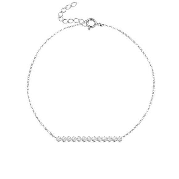 KWIECIEŃ - bransoletka srebrna z kryształem górskim