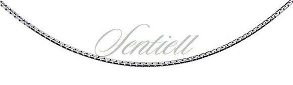 Łańcuszek ozdobny srebrny pr. 925 kostka wenecka Ø 020 diamentowana