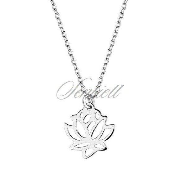 Naszyjnik celebrytka kwiat lotosu srebro 925