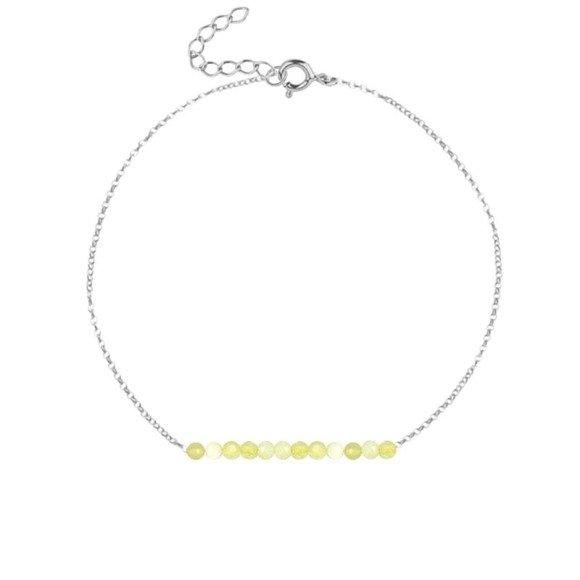 PAŹDZIERNIK- bransoletka srebrna z żółtym opalem