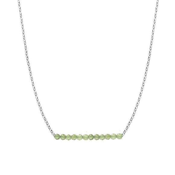SIERPIEŃ - naszyjnik srebrny z oliwinem