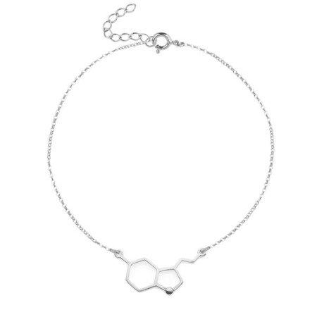 Serotonina bransoletka srebrna