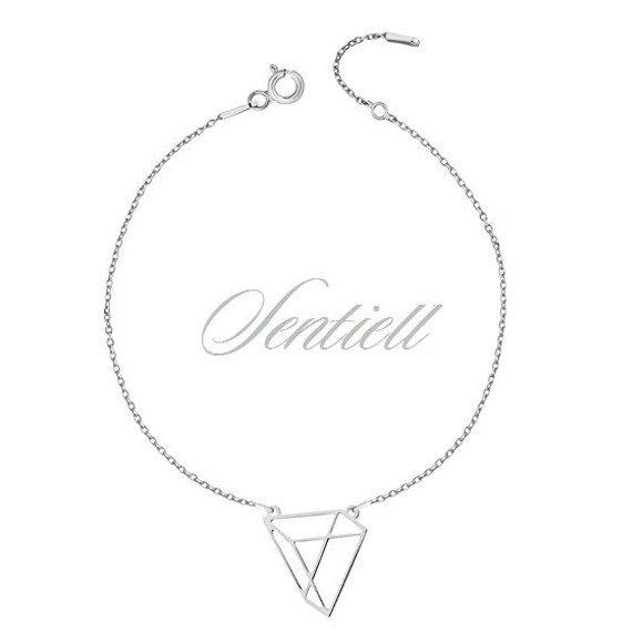 Srebrna bransoletka pr.925 - Origami trójkąt