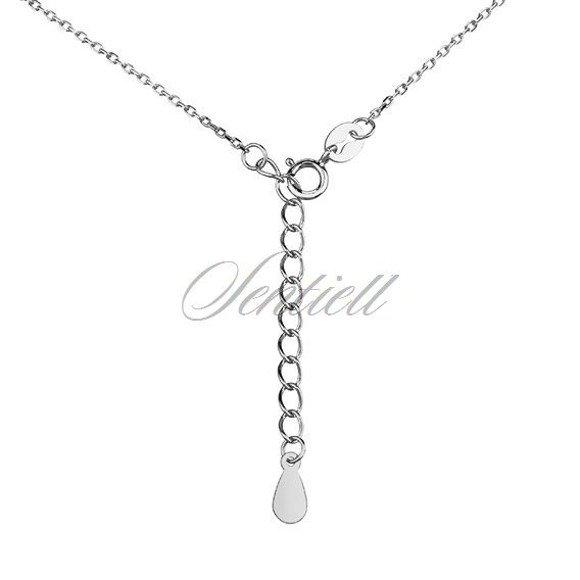 Srebrny długi minimalistyczny naszyjnik pr.925 podwójna blaszka bar