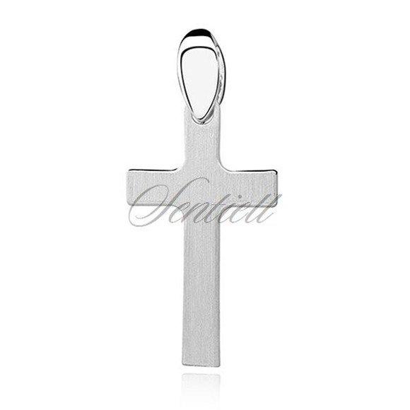 Srebrny krzyż (pr.925) krzyżyk prosty satynowany