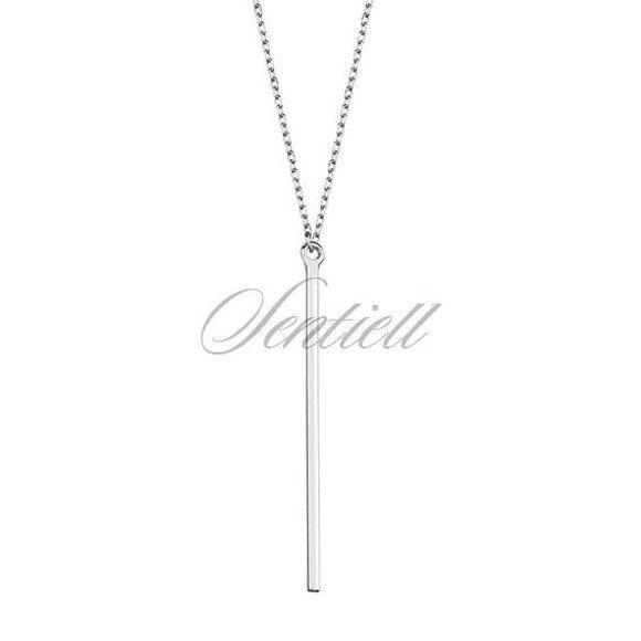 Srebrny minimalistyczny naszyjnik pr.925 blaszka bar