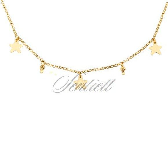 Srebrny naszyjnik pr.925 pozłacany choker z gwiazdkami