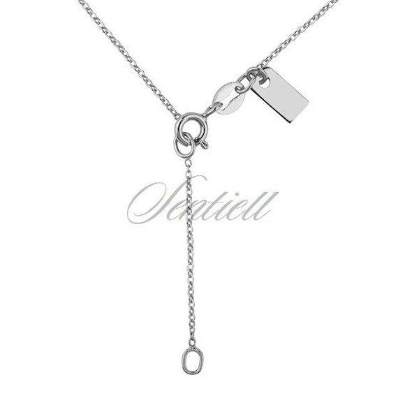 Srebrny naszyjnik pr.925 z zawieszką ażurowym sercem
