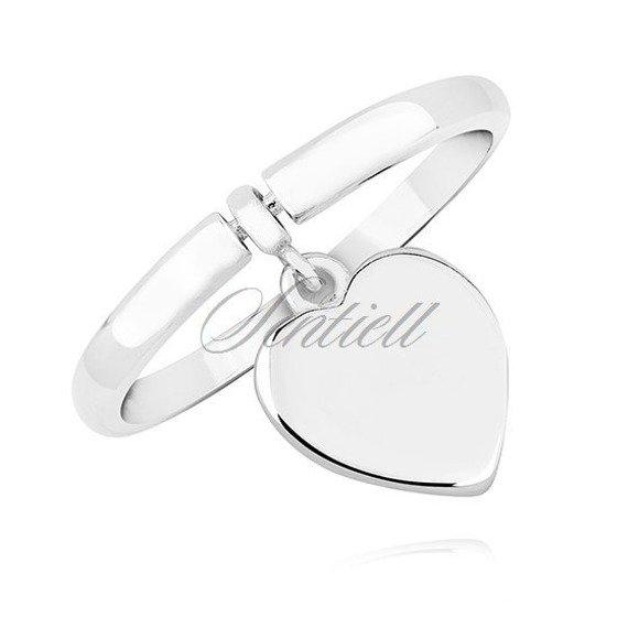 Srebrny pierścionek pr.925 z zawieszką serce