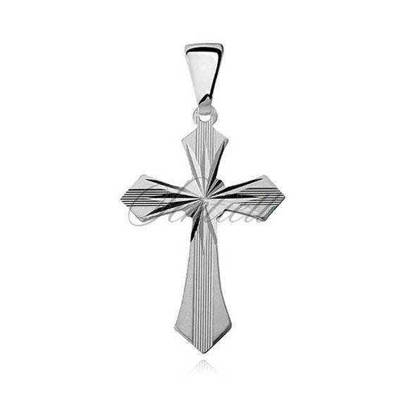 Srebrny (pr.925) krzyżyk diamentowany