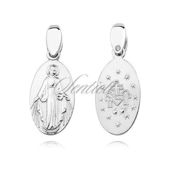 Srebrny (pr.925) medalik dwustronny - Matka Boska Cudowna